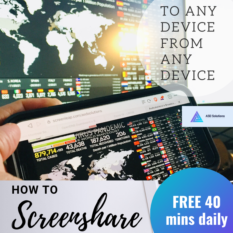 free screensharing-asd solution