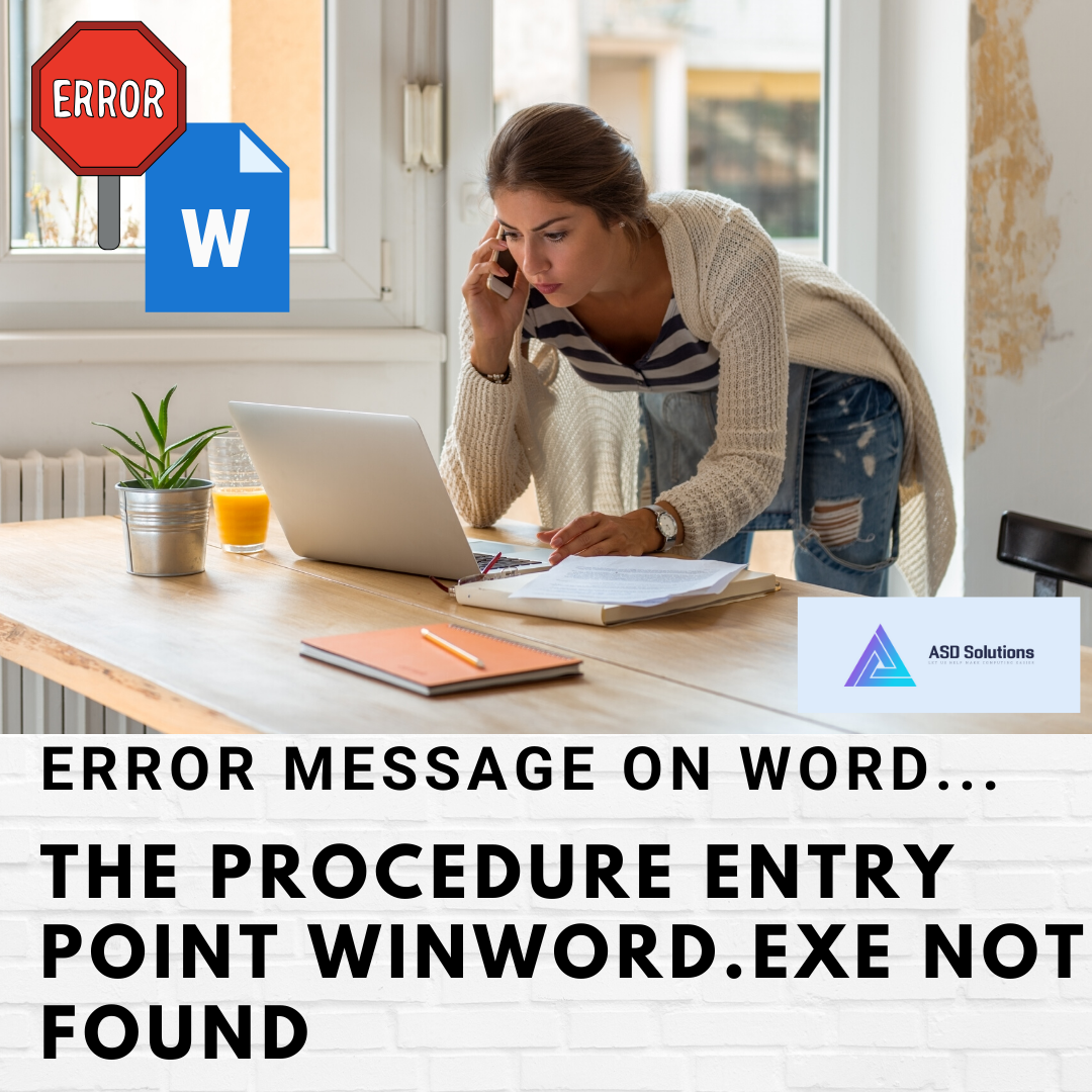 procedure entry point winword.exe not found