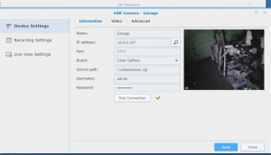 Adding Tenvis Camera to Synology Surveillance Station - ASD Solutions